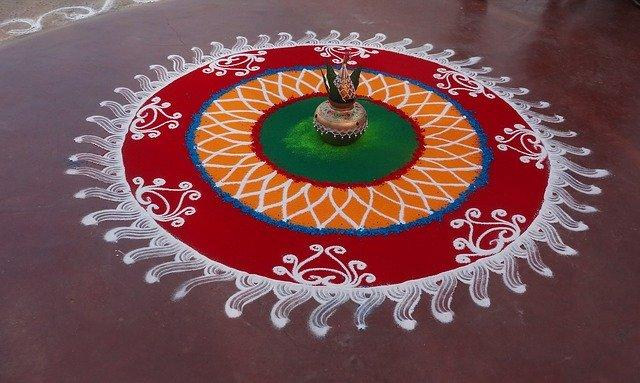 Rangoli by Astrologer In India